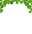 Border With Leaves vector image