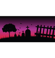 cementery in the nature color vector image
