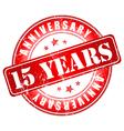 15 years anniversary stamp vector image