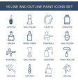 16 paint icons vector image vector image
