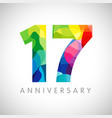 17 anniversary colorful facet logo