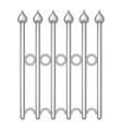 decorative iron fence icon monochrome