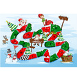 A christmas boardgame vector image vector image