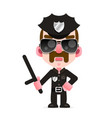 a police officer in an american police uniform vector image vector image