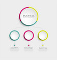 abstract 3d infographic template with 3 steps vector image