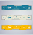 abstract clean web banner design template vector image
