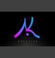 ak artistic brush letter logo handwritten vector image vector image