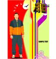 al 0709 man poster vector image vector image