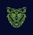 angry wolf head creative logo icon design vector image