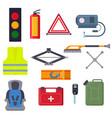 auto transport motorist equipment vector image vector image