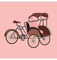 becak rickshaw indonesia jakarta icon flat vector image vector image