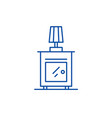 bedside table line icon concept bedside table vector image vector image