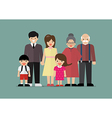 Big family together in flat style vector image vector image