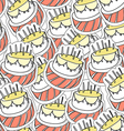 Birthdays cake seamles background vector image vector image