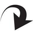 black arrows in circular motion arrow combination vector image vector image