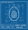 blueprints concept of easter egg mechanical vector image vector image