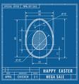 blueprints concept of easter egg mechanical vector image