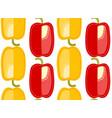 bulgarian pepper pattern sliced cartoon vegetable vector image