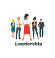 business concept with people silhouettes vector image