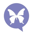 butterfly silhouette isolated icon vector image