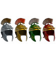 cartoon ancient roman soldier helmet set vector image vector image