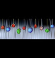 christmas balls hanging on blurred background vector image vector image