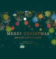 christmas banner horizontal web banner template vector image vector image