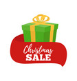 christmas sale - gift for ad banner poster vector image