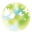 circular springtime background with butterflies vector image vector image