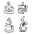 coffee cup set vector image