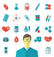 collection trendy flat medical icons isolated on vector image vector image