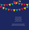 colorful pennants design vector image