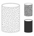 cylinder mesh 2d model and triangle mosaic vector image vector image