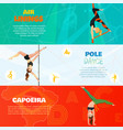 dance horizontal banners vector image