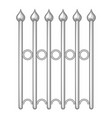 decorative iron fence icon monochrome