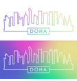 doha skyline colorful linear style editable vector image vector image