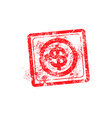 Dollars sign icon red grunge rubber stamp vector image