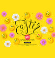 easter sale banner design with colorful spring vector image vector image
