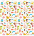 elements for seaside vacation semless pattern vector image vector image