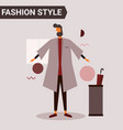 fashion style character vector image