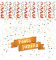 festa junina midsummer holiday vector image vector image