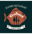 fish and cutlery vector image vector image