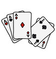 full house of poker cards vector image vector image