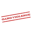 Gang Violence Watermark Stamp vector image vector image