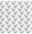 geometrical seamless monochrome diagonal square vector image vector image