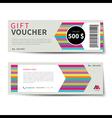gift voucher discount template flat design vector image vector image