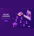 global online learning center student account vector image