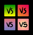 grunge versus signs on gradient backdrop vector image vector image