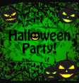 halloween holiday natural template vector image vector image