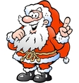 Hand-drawn of an Happy Santa Pointing vector image vector image